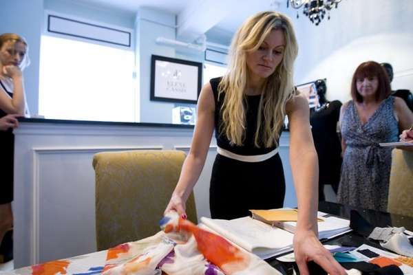 Long Island fashion designer Elene Cassis prepares for