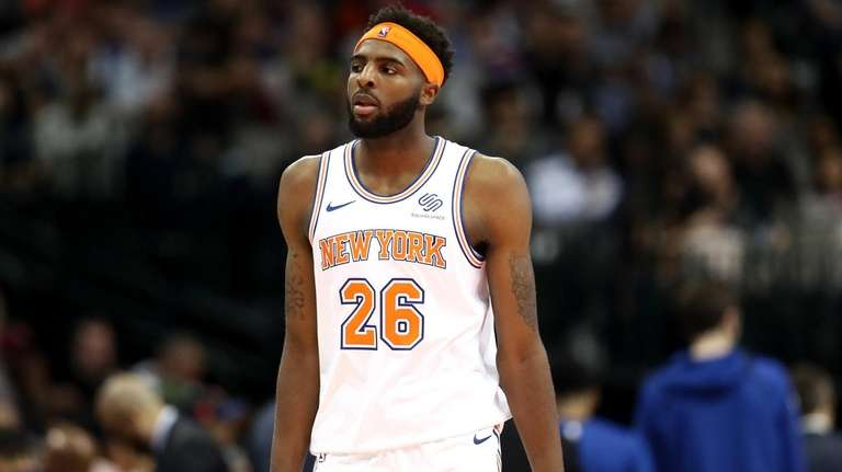 Mitchell Robinson of the Knicks during a game
