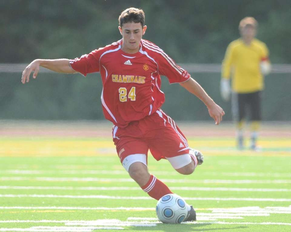 Chaminade's Thomas Roulis dribbles downfield during a non-league