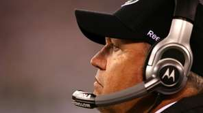 Jets head coach Rex Ryan watches from the