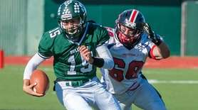 Lindenhurst High School Boys football player starting QB,