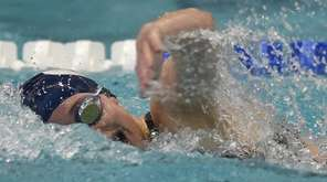 Catherine Stanford of Oceanside wins the 100-yard freestyle