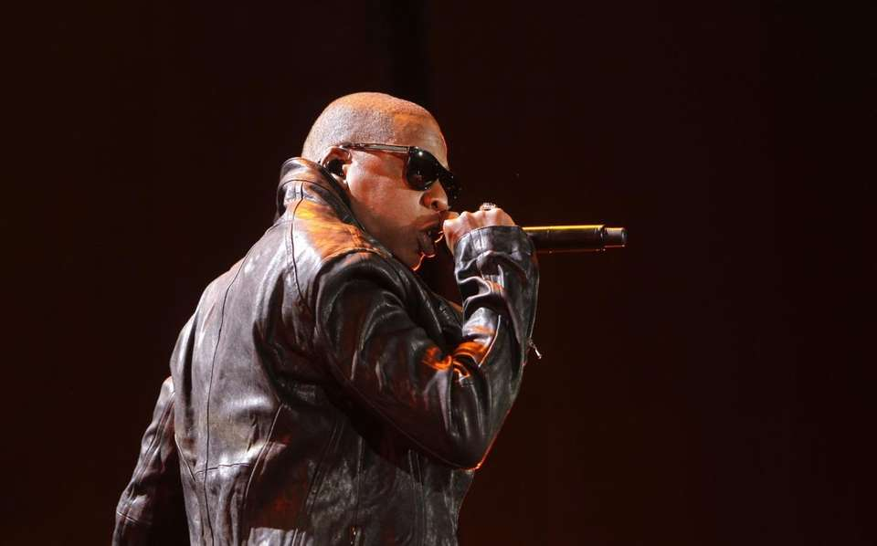 Jay-Z performs during the first concert at the