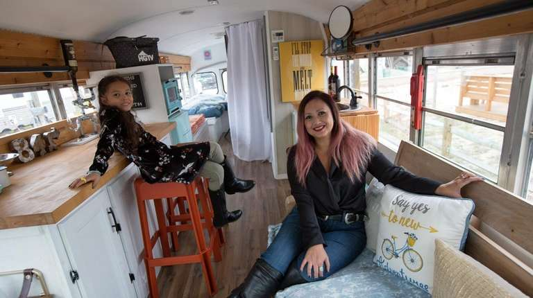 Lindenhurst Woman Turns School Bus Into Tiny Home Newsday
