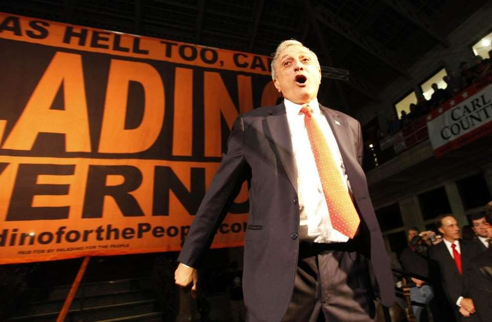 Gubernatorial candidate Carl Paladino addresses his supporters in
