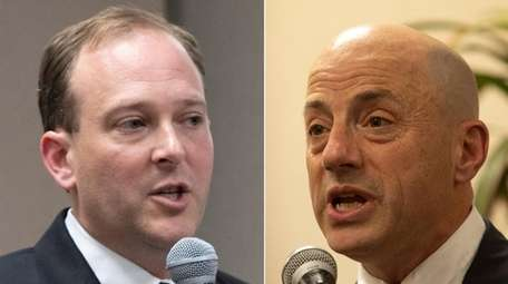 Rep. Lee Zeldin and his Democratic challenger Perry