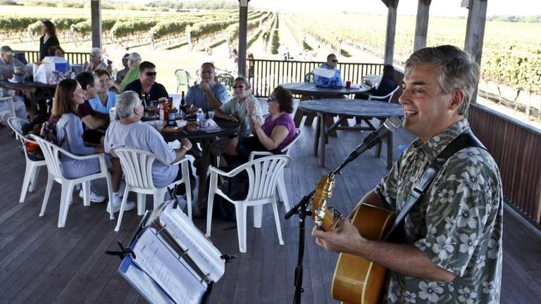 Pindar Vineyards in Peconic with its pavilion is