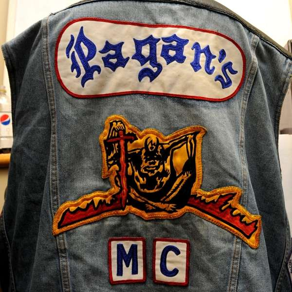 A Pagan's jacket, seized in one of 14
