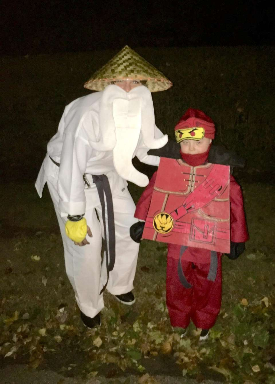 Karen and Declan as Sensai Wu and Kai