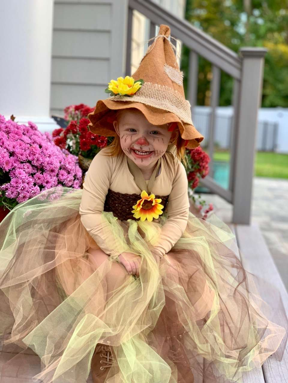 The sweetest scarecrow around.