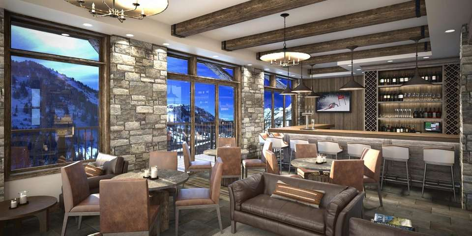 A rendering shows the bar at the Snowpine