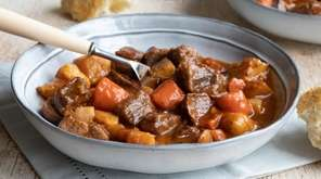 Beef, carrots and potatoes make this stew a