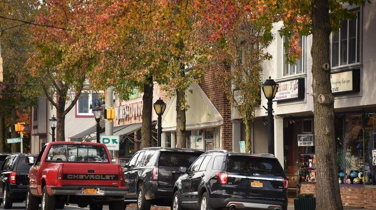 Shops line Broadway in Greenlawn.