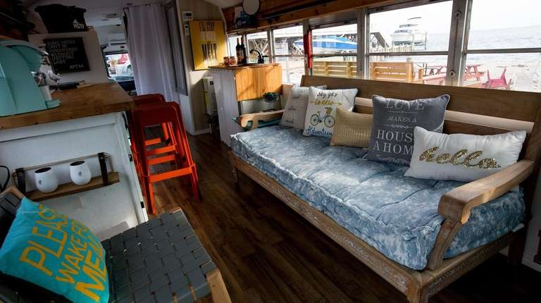 Lindenhurst woman turns school bus into tiny home | Newsday