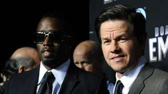 Sean Combs and actor Mark Wahlberg attend the