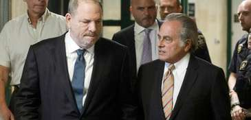 Attorney Benjamin Brafman, right, with Harvey Weinstein in