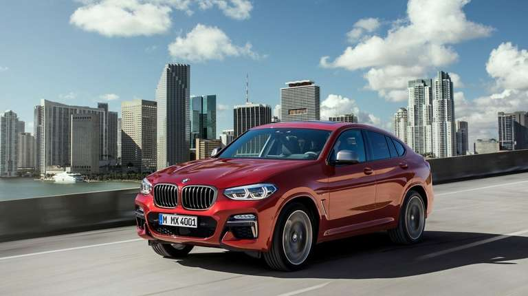 The new BMW X4 boasts an athletic look
