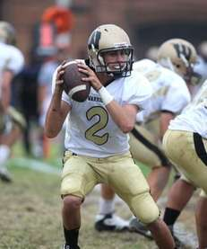 Wantagh H.S. quarterback Nick Mullen, no. 2, in