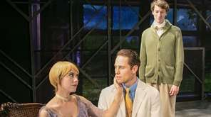 Charlie Westfal, seated, stars as Jay Gatsby in