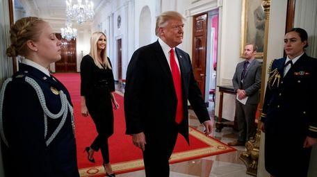 President Donald Trump and his daughter Ivanka Trump