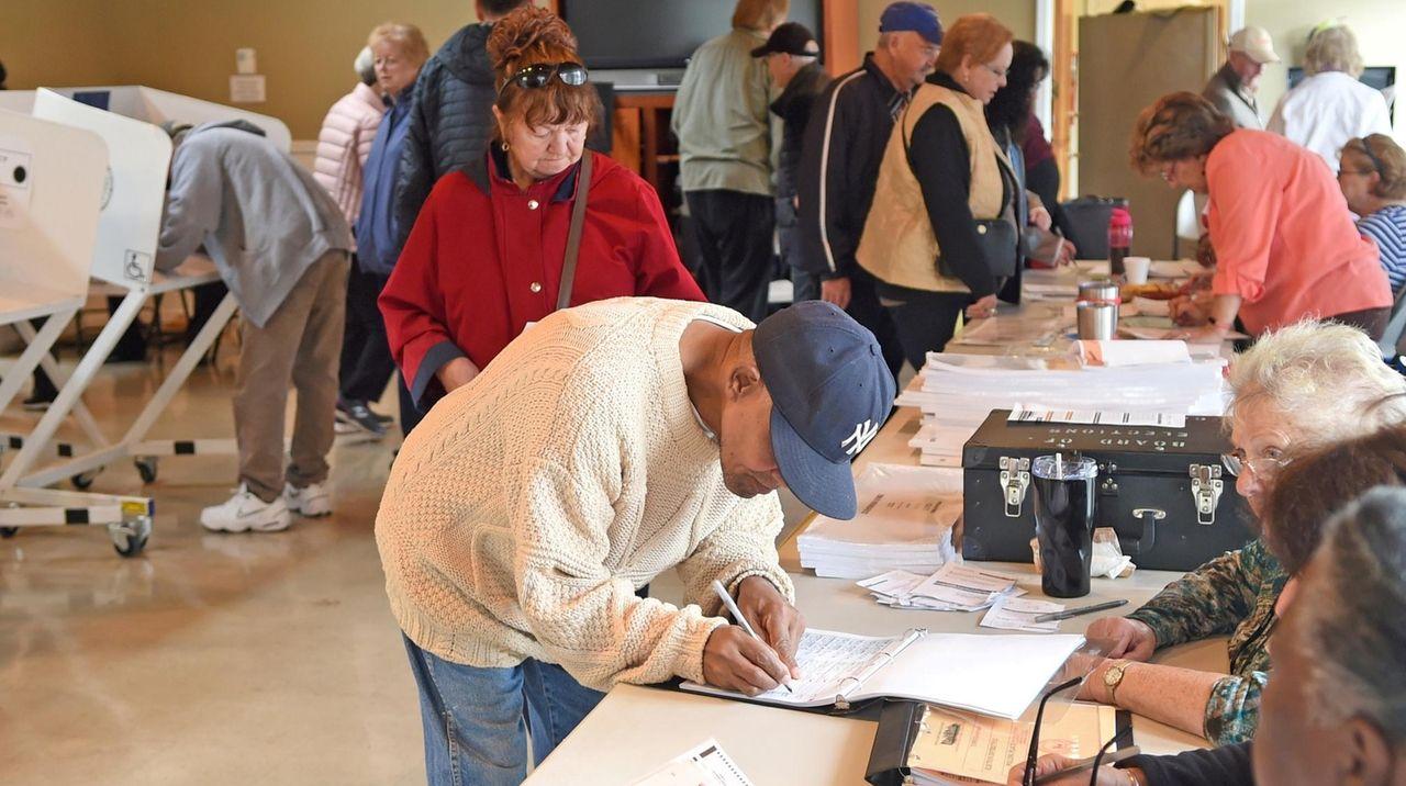 Voters cast their vote at John Wesley Village