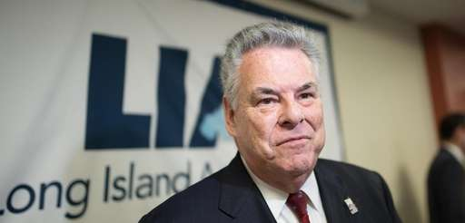 Congressman Peter King is interviewed during an executive