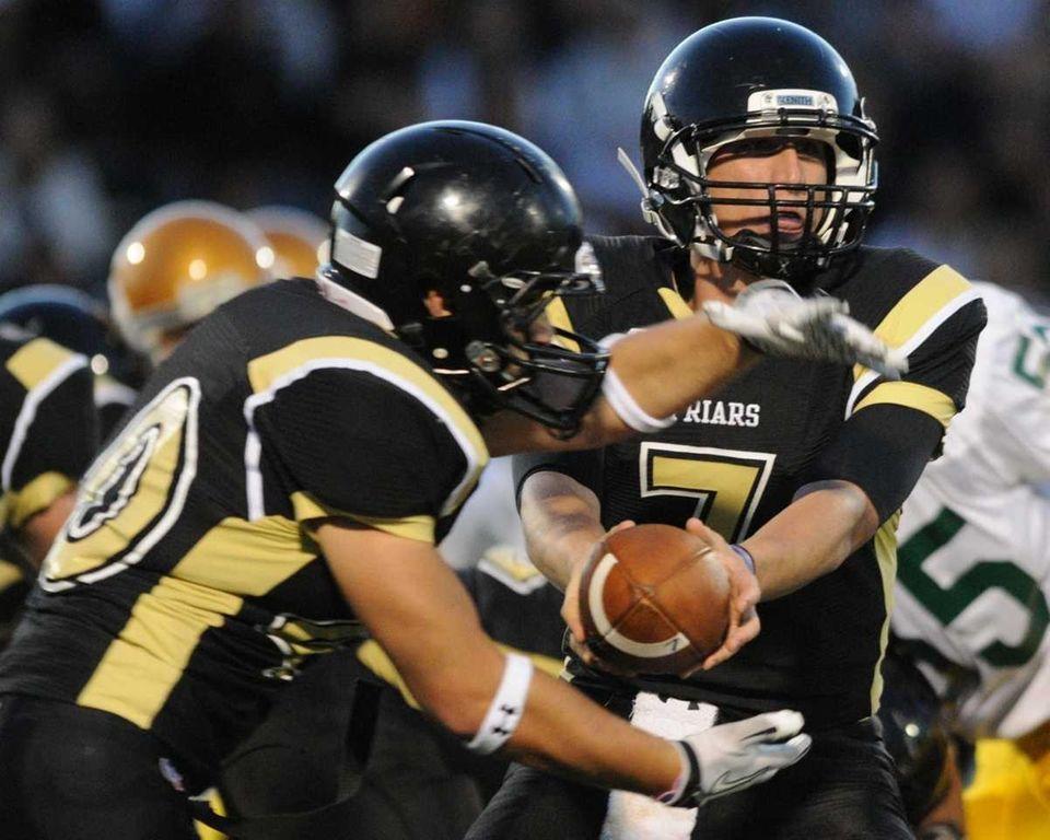 St. Anthony's High School quarterback #7 Charlie Raffa,