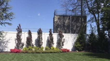 A view of Chris Cannella's backyard before construction