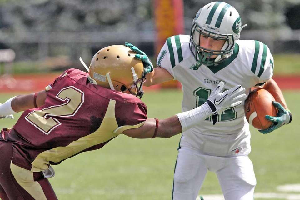 Catch by Holy Trinity's Nicholas Olson against Iona