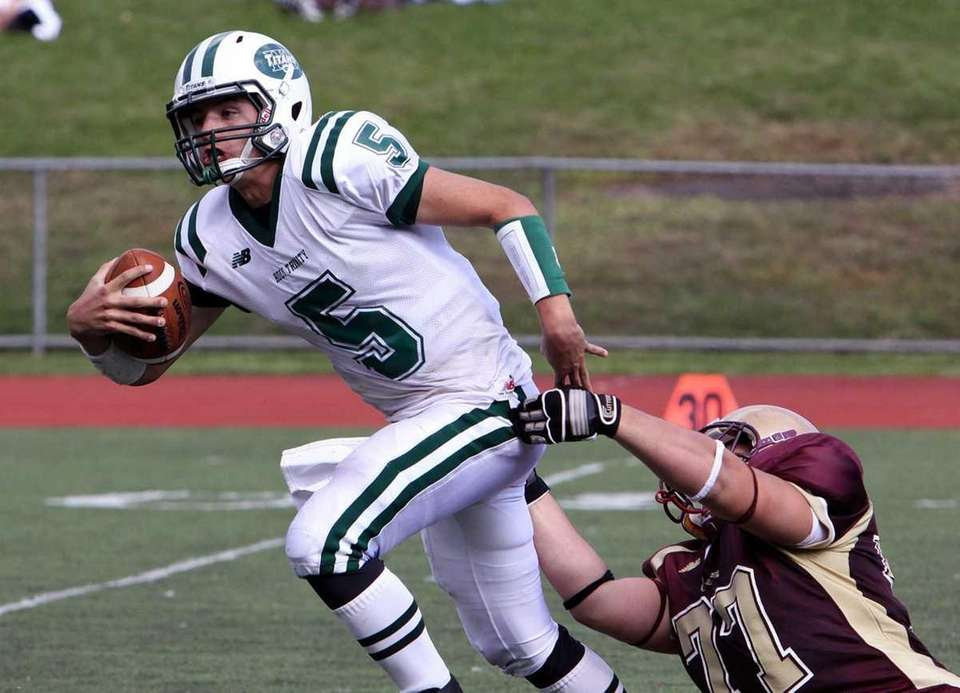 Holy Trinity's Christopher Laviano escapes from the hit