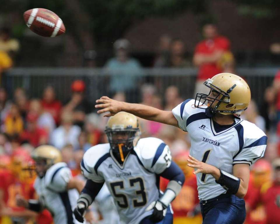 Xaverian High School (Brooklyn, NY) quarterback #1 Greg
