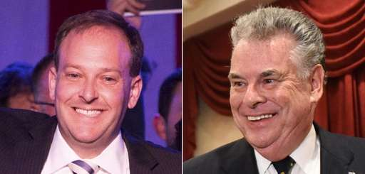 Rep. Lee Zeldin, left, and Rep. Peter King