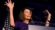 House Minority Leader Nancy Pelosi speaks at an