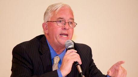 Suffolk County Comptroller John Kennedy speaks in Smithtown