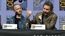 """Breaking Bad"" stars Aaron Paul, left, and Bryan"