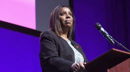 Letitia James will be sworn in as New