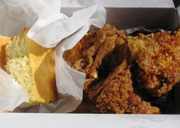The fried chicken at Salamander's in Greenport