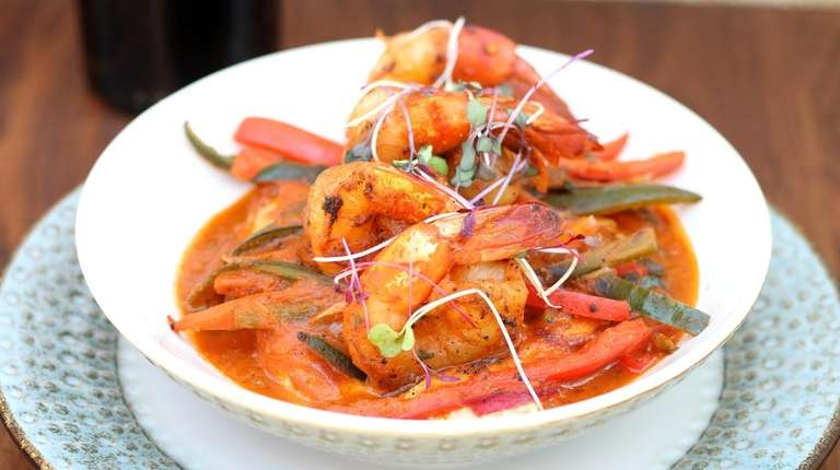 Blackened shrimp 'n' grits is one of chef