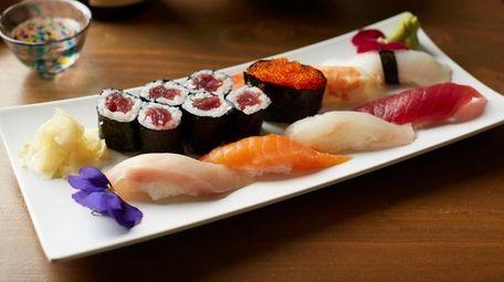 Sushi deluxe plate, Stirling Sake, Greenport, Nov. 2,