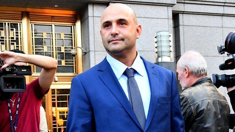 Craig Carton exits federal court in Manhattan following