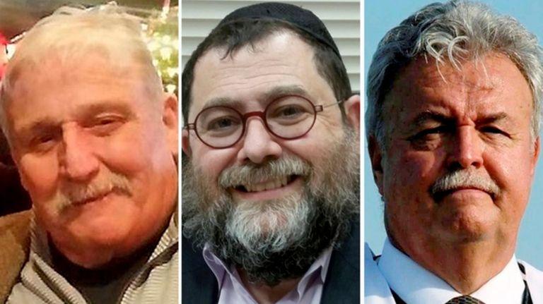 From left, James J. O'Donnell, Rabbi Yakov Saacks
