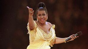 Aretha Franklin performs at the inaugural gala