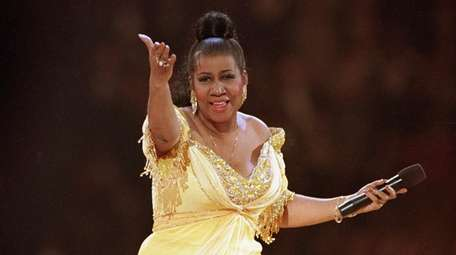 Aretha Franklin performs at the inaugural gala