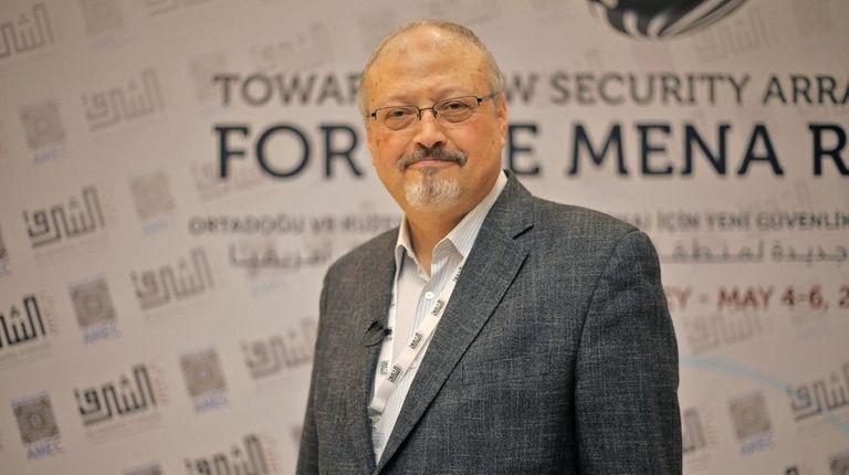 Saudi journalist Jamal Khashoggi in Istanbul, Turkey is