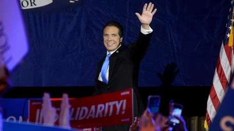 Gov. Andrew M. Cuomo after being elected to