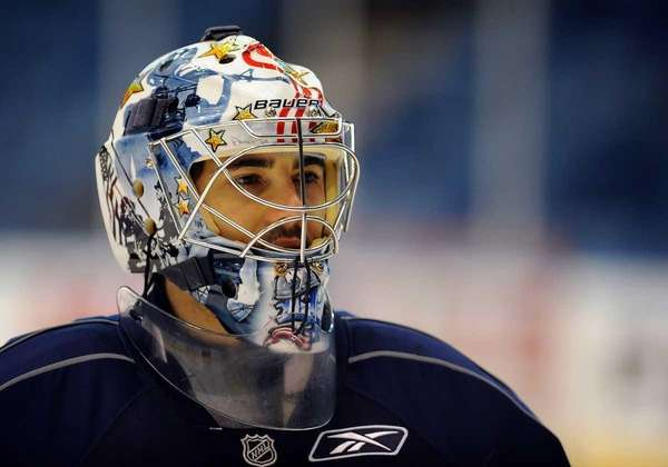 Islanders goalie Rick DiPietro during training camp at