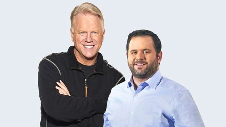 Boomer Esiason, left, and Gregg Giannotti co-host the