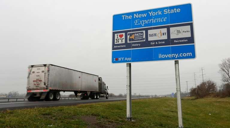 """One of the controversial """"I Love NY"""" signs"""