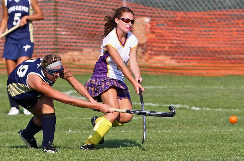 Bayport's Loren Generi #19, takes a shot on