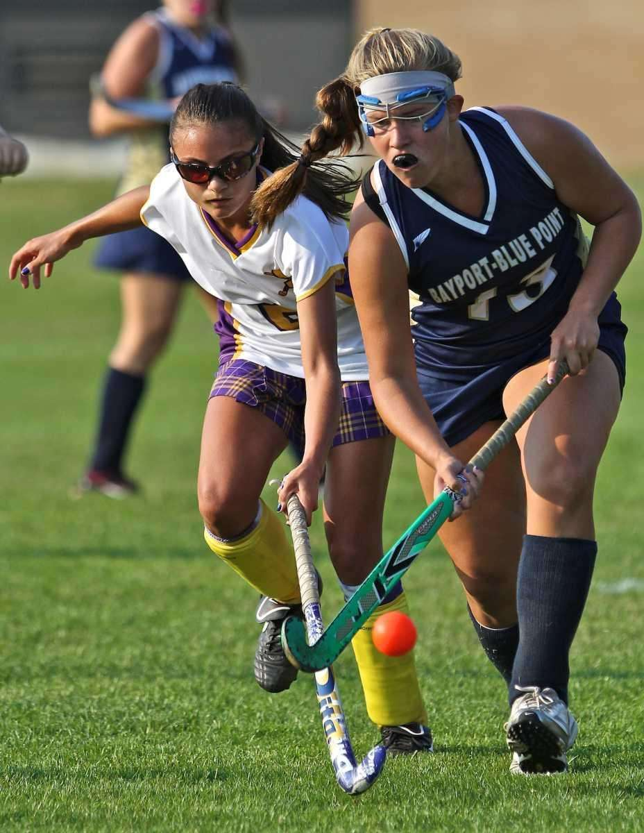 Bayport's Molly Grube #13 takes the ball away